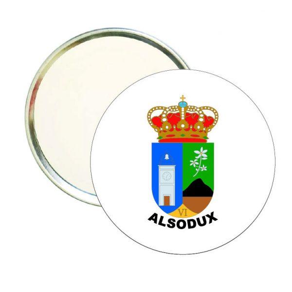 espejo redondo escudo heraldico alsodux