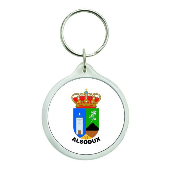 llavero redondo escudo heraldico alsodux