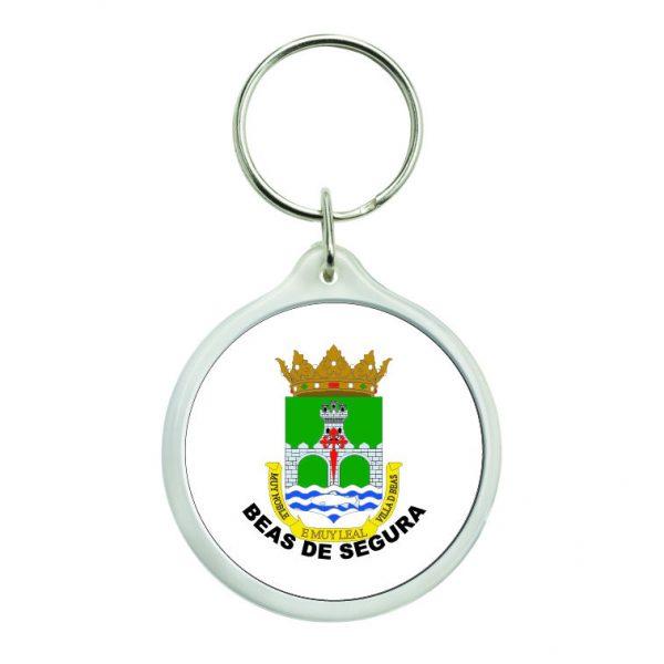 llavero redondo escudo heraldico beas de segura
