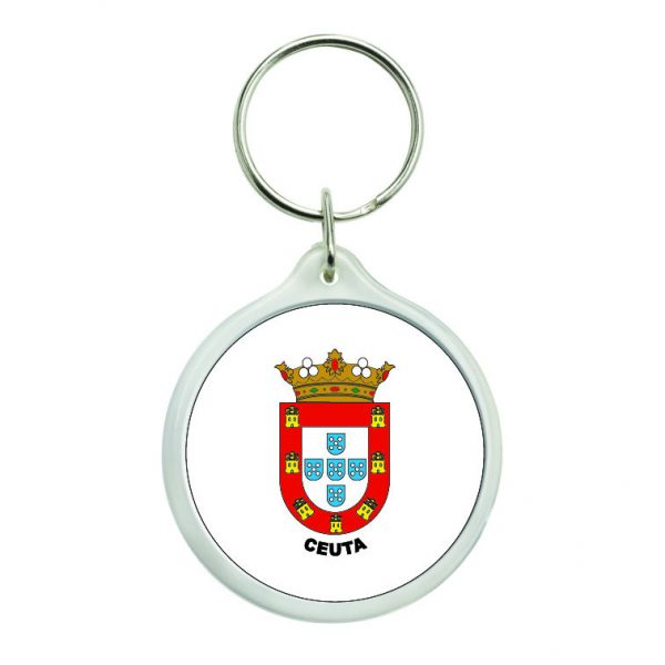 llavero redondo escudo heraldico ceuta