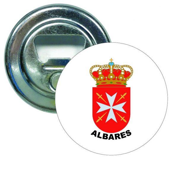 abridor redondo escudo heraldico albares