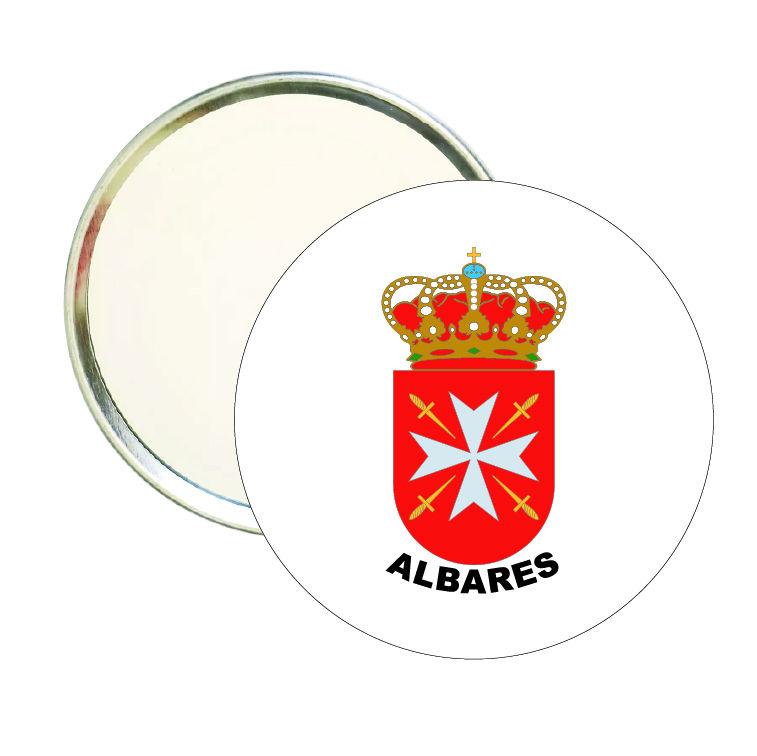 espejo redondo escudo heraldico albares