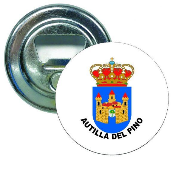 abridor redondo escudo heraldico autilla del pino