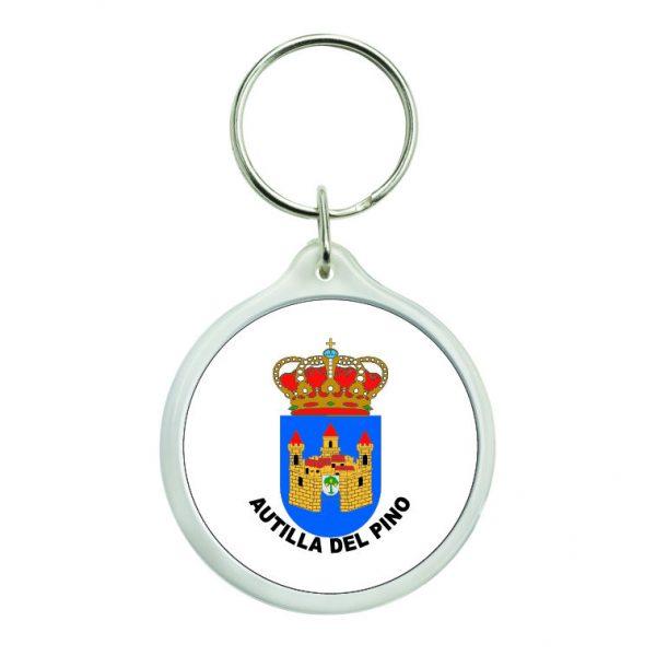 llavero redondo escudo heraldico autilla del pino