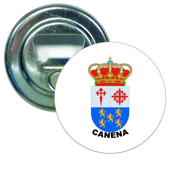 abridor redondo escudo heraldico canena