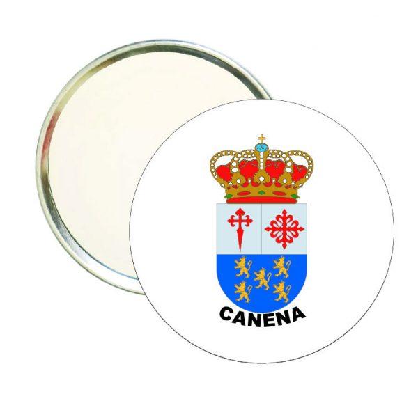 espejo redondo escudo heraldico canena