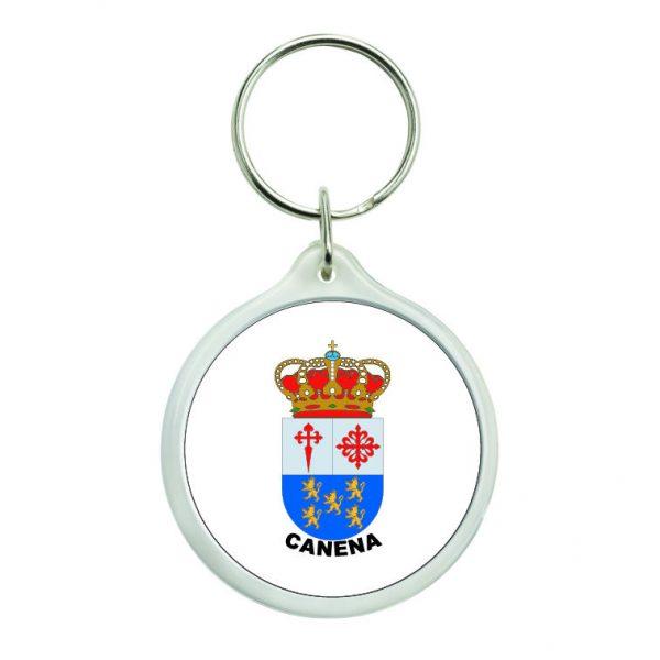 llavero redondo escudo heraldico canena