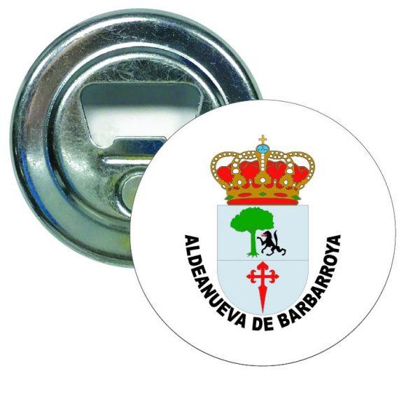 abridor redondo escudo heraldico aldeanueva de barbarroya