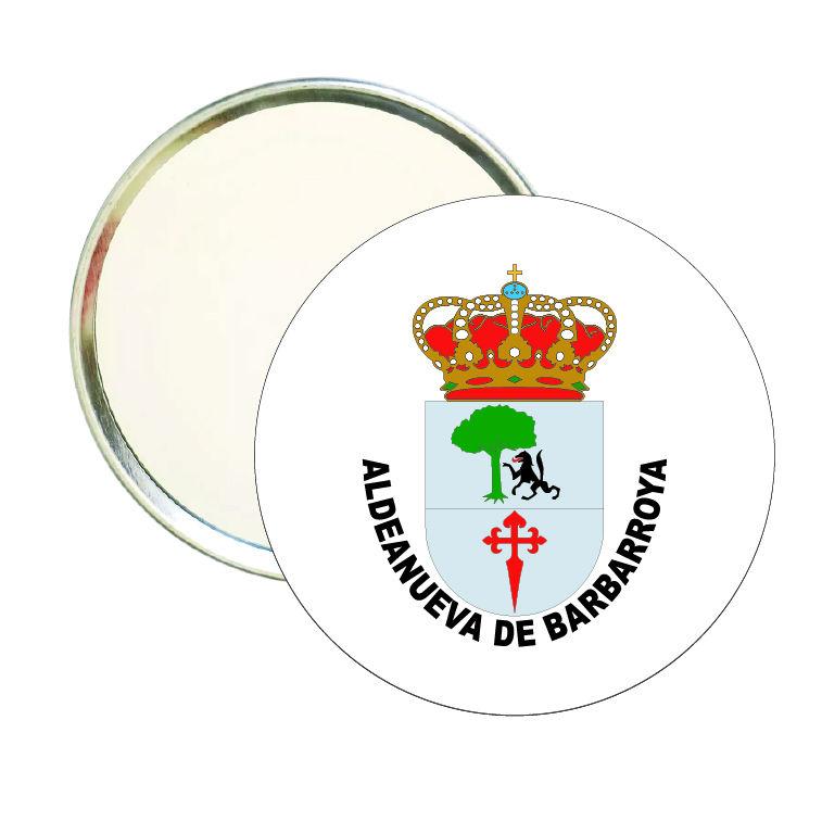espejo redondo escudo heraldico aldeanueva de barbarroya