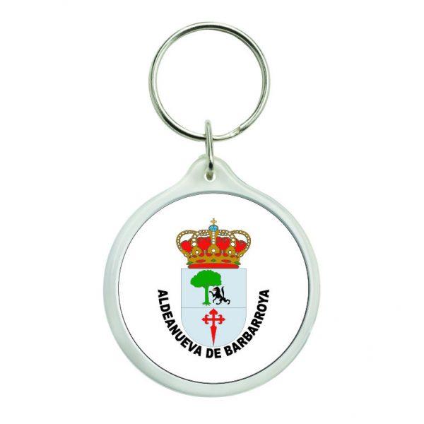 llavero redondo escudo heraldico aldeanueva de barbarroya