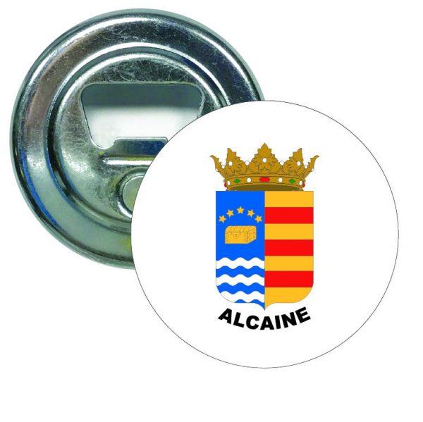abridor redondo escudo heraldico alcaine