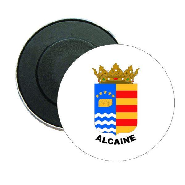 iman redondo escudo heraldico alcaine