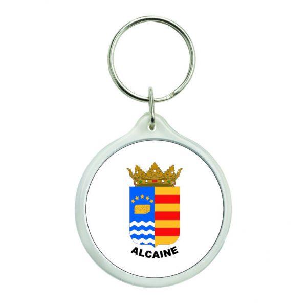 llavero redondo escudo heraldico alcaine