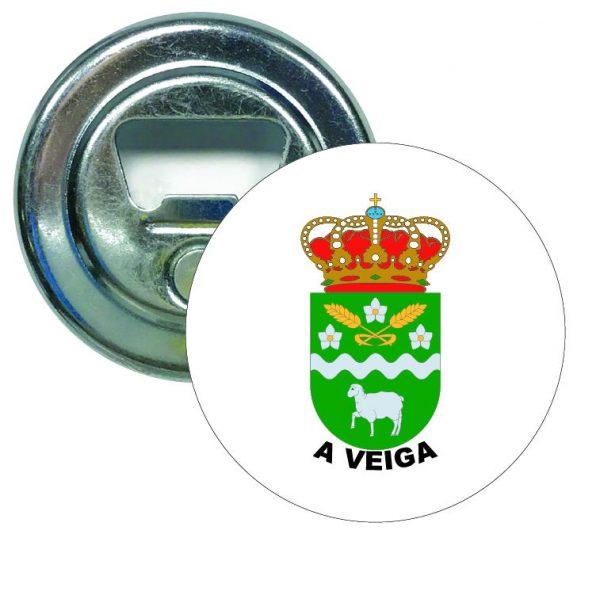 abridor redondo escudo heraldico a veiga