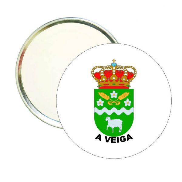 espejo redondo escudo heraldico a veiga