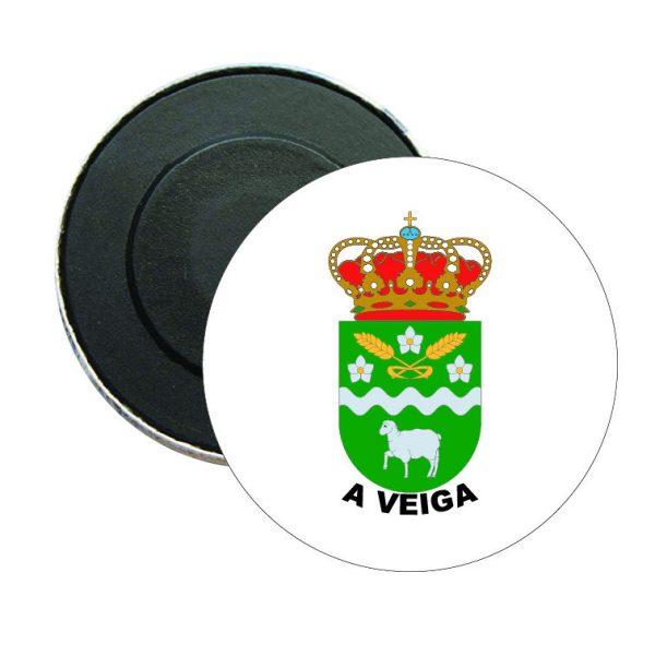 iman redondo escudo heraldico a veiga