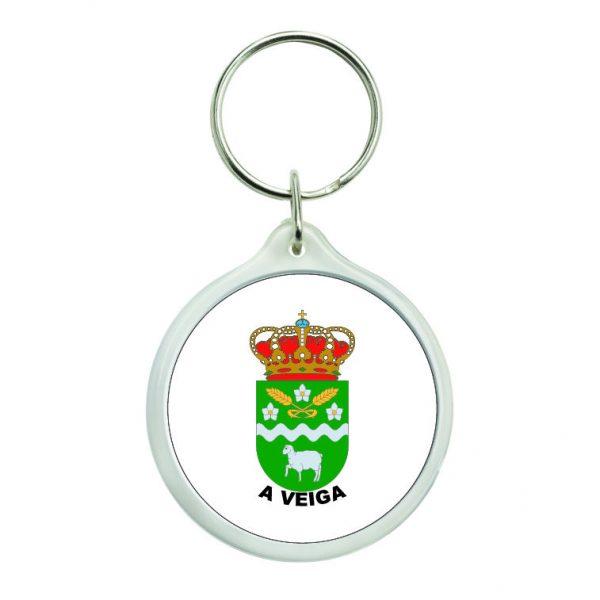 llavero redondo escudo heraldico a veiga