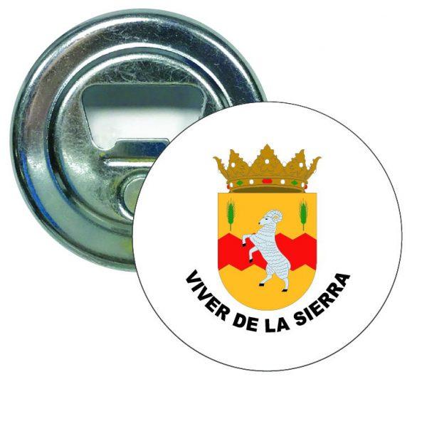 abridor redondo escudo heraldico viver de la sierra