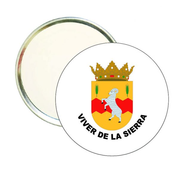 espejo redondo escudo heraldico viver de la sierra