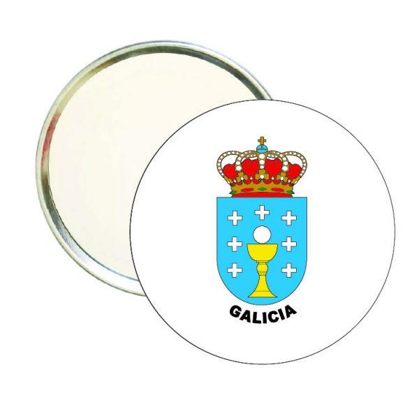 espejo redondo escudo heraldico galicia