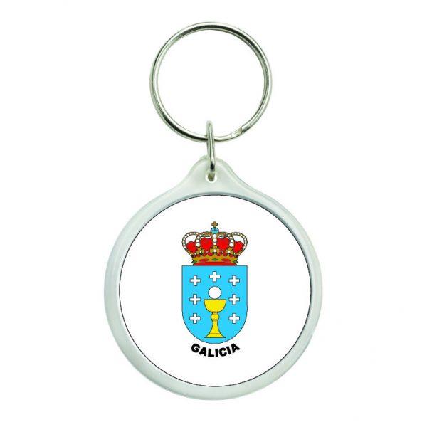 llavero redondo escudo heraldico galicia
