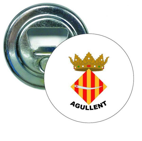 abridor redondo escudo heraldico agullent