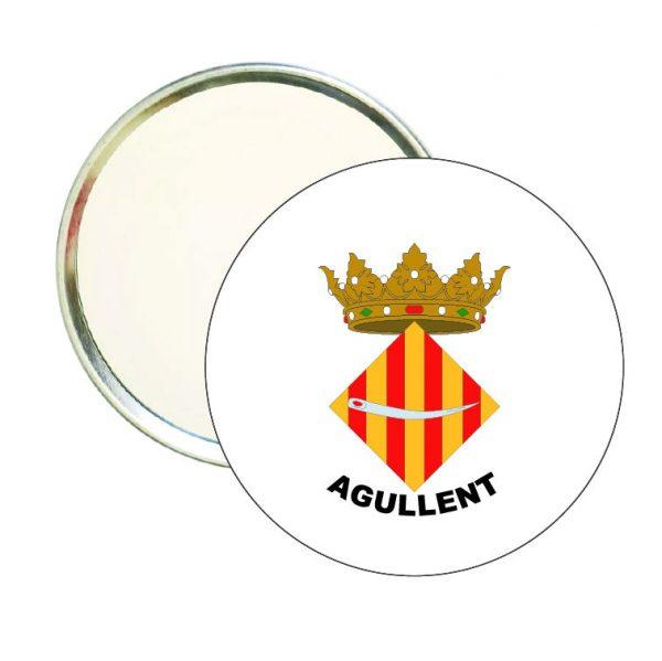 espejo redondo escudo heraldico agullent