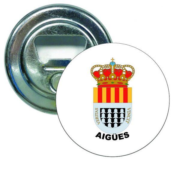 abridor redondo escudo heraldico aigues