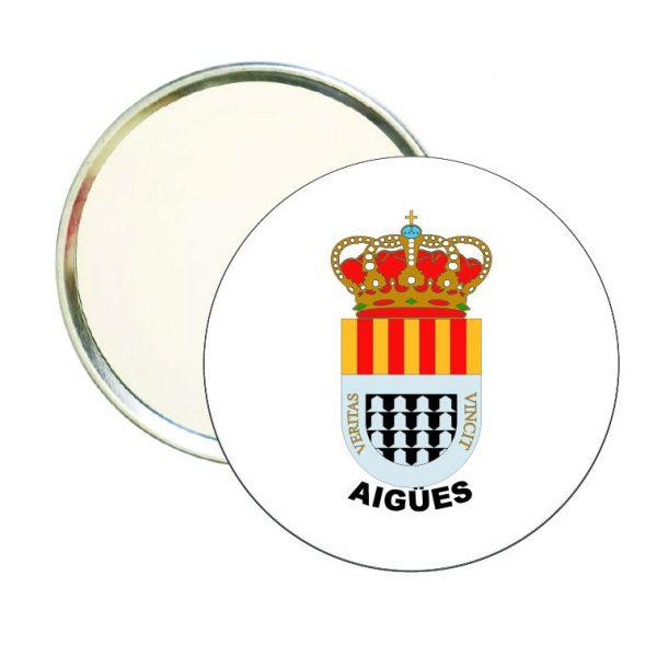 espejo redondo escudo heraldico aigues