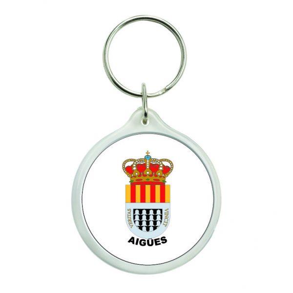 llavero redondo escudo heraldico aigues