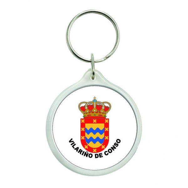 llavero redondo escudo heraldico vilarino de conso