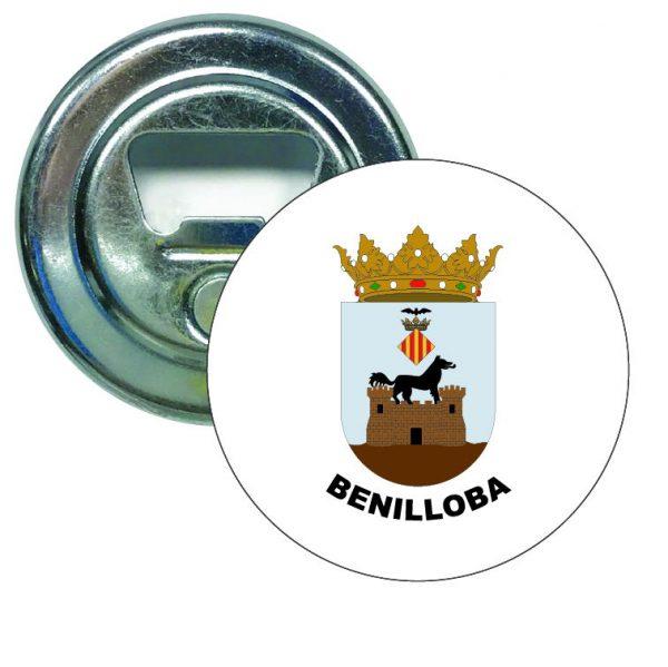abridor redondo escudo heraldico benilloba