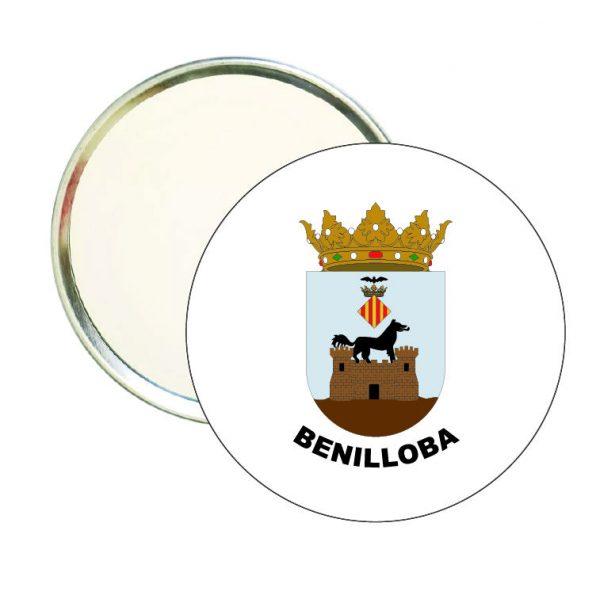 espejo redondo escudo heraldico benilloba