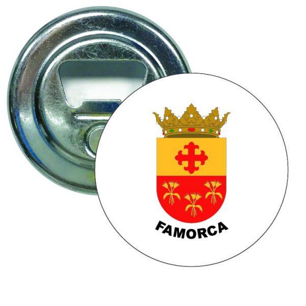 abridor redondo escudo heraldico famorca