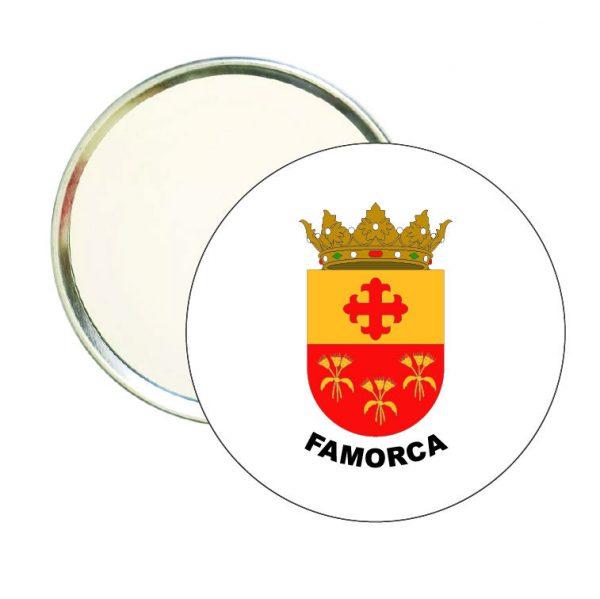 espejo redondo escudo heraldico famorca