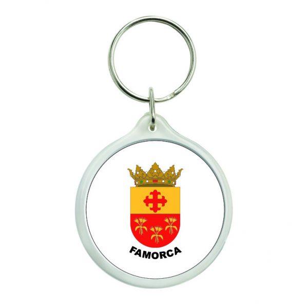 llavero redondo escudo heraldico famorca