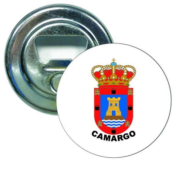 abridor redondo escudo heraldico camargo
