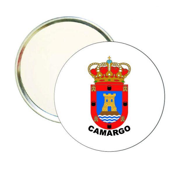 espejo redondo escudo heraldico camargo