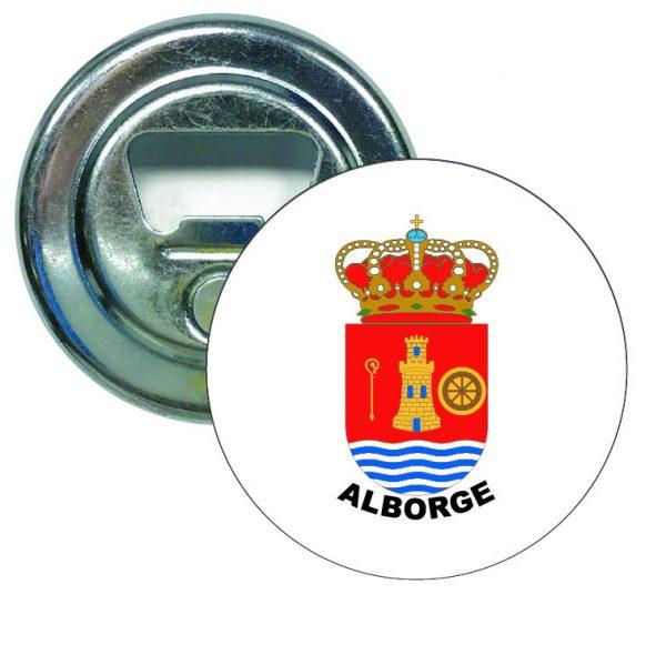abridor redondo escudo heraldico alborge