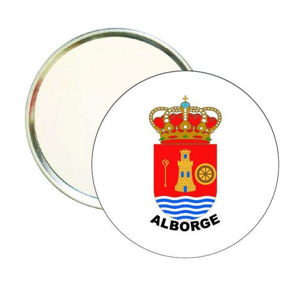 espejo redondo escudo heraldico alborge