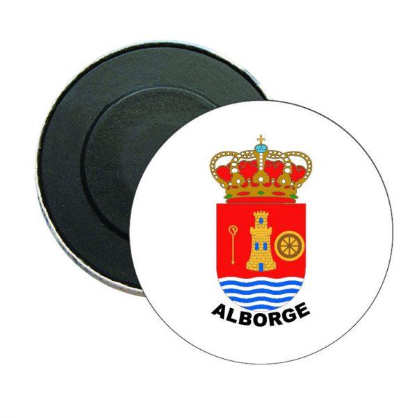 iman redondo escudo heraldico alborge