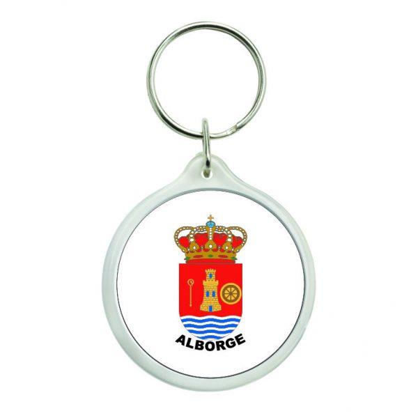 llavero redondo escudo heraldico alborge