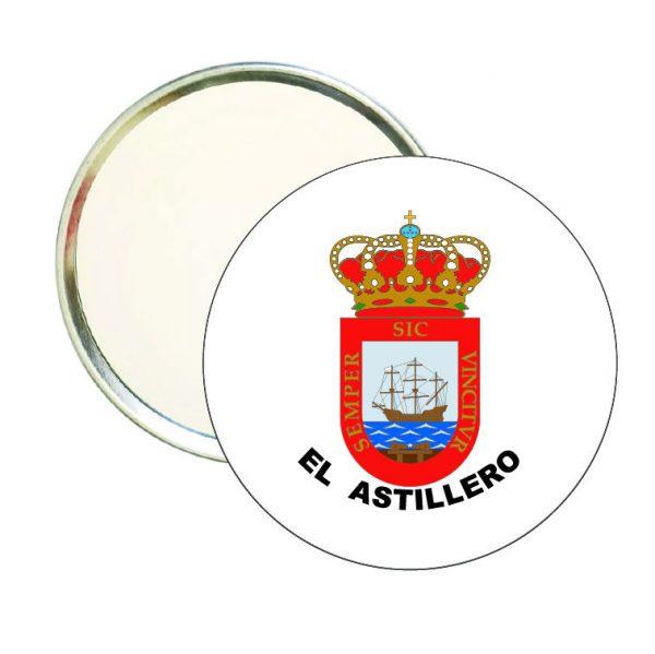 espejo redondo escudo heraldico el astillero