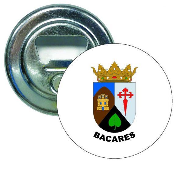 abridor redondo escudo heraldico bacares