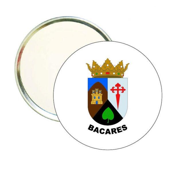espejo redondo escudo heraldico bacares
