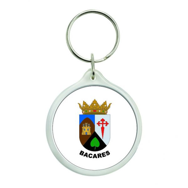 llavero redondo escudo heraldico bacares