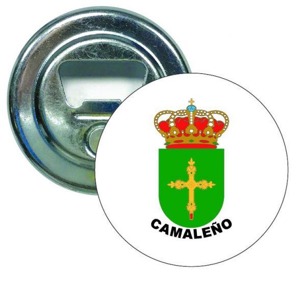 abridor redondo escudo heraldico camaleno