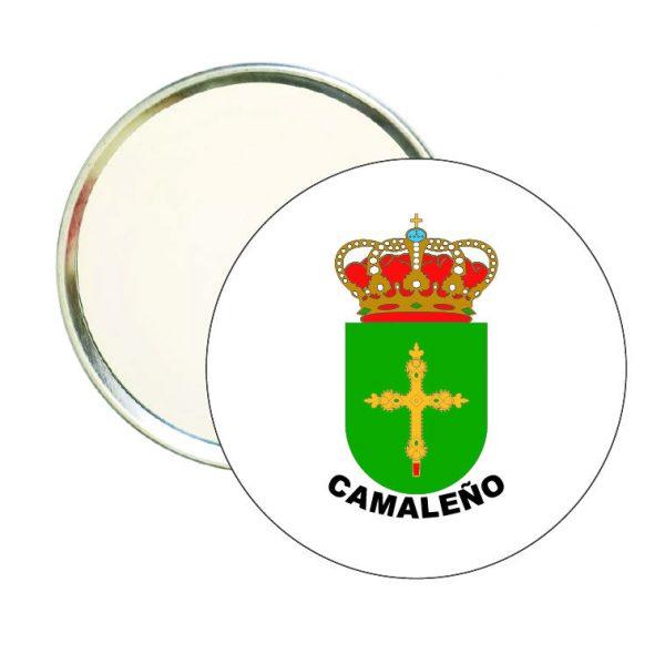 espejo redondo escudo heraldico camaleno