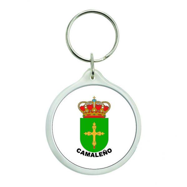 llavero redondo escudo heraldico camaleno