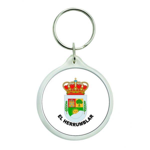 llavero redondo escudo heraldico el herrumblar